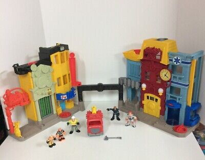 Imaginext Rescue  Police Station Fire Station Playset W/ Accessories • 18.08£
