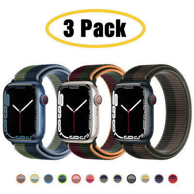 $ CDN11.35 • Buy For Apple Watch Series 6 5 4 3-1 SE 40/44mm Nylon Sport Band IWatch Strap 3 PACK