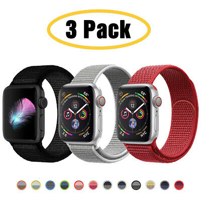 $ CDN11.43 • Buy For Apple Watch Series 6 5 4 3-1 SE 40/44mm Nylon Sport Band IWatch Strap 3 PACK