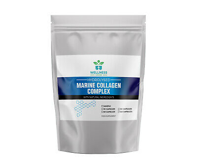 £9.99 • Buy Hydrolyzed MARINE COLLAGEN Capsules | 1000mg HIGH STRENGTH Supplement