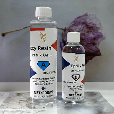 £16.99 • Buy Epoxy Resin Kit Resin Crystal Clear DIY Jewelry Tables Casting Fast Curing 300g