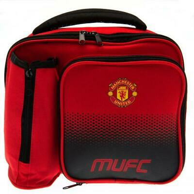 Manchester United Football Club Fade School Lunch Bag Box With Bottle Holder • 13.99£