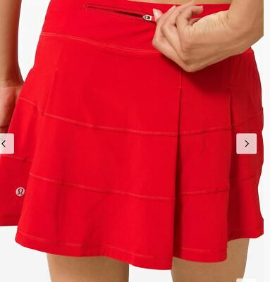 $ CDN124.99 • Buy Lululemon Nwt Pace Rival Skirt Sz 10 Tall Dark Red Tennis Golf Beach Run Dance