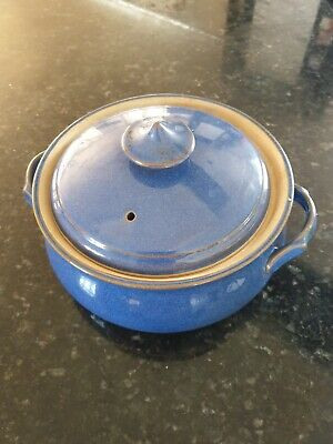 Denby Imperial Blue Casserole Dish With Lid • 8£