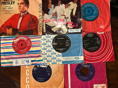JOB LOT OF 8 50s 60s RnR 45s 6 45s 2 EPs CONDITIONS VARY FROM VG TO STRONG VG+ • 20£