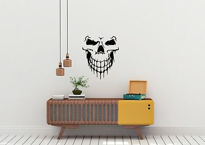 Smiling Skull Face Inspired Design Home Wall Art Decal Vinyl Sticker • 9.98£