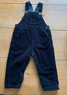 Next Navy Boys Dungarees Age 12-18 Months • 2.80£