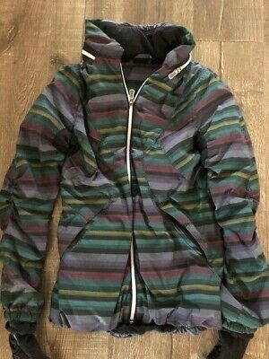 $ CDN100 • Buy Lululemon Poncho Stripe Run Hustle Jacket Size 6