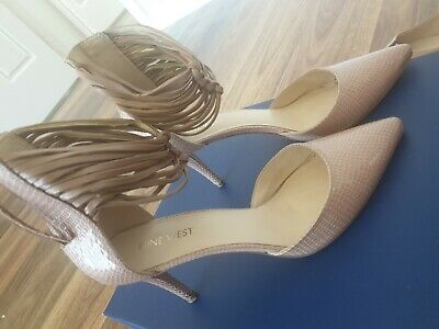 AU13 • Buy Gorgeous Nine West Size 7.5 Heels In Nude Colour