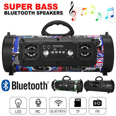 AU33.95 • Buy Wireless Bluetooth Portable Speakers Stereo Bass USB/TF/ Radio Outdoor Subwoofer