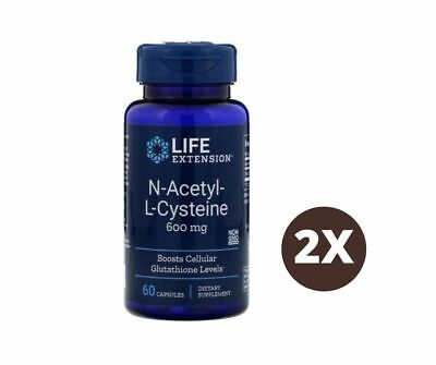 AU69.11 • Buy Life Extension, N-Acetyl-L-Cysteine, 600 Mg, 60 Capsules - 2 Bottles I