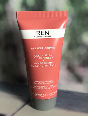 REN Perfect Canvas Clean Jelly Oil Cleanser 15ml Travel New & Sealed *FAST POST* • 4.99£