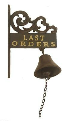 £28.99 • Buy Last Orders Bell And Sign, Wall Mounted Bell, Home Bar Bell, Garden Bar Bell