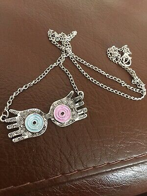 Harry Potter Beautiful Silver Luna Lovegood Necklace - Pink And Blue Glasses • 3.49£