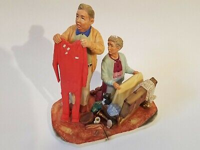$ CDN0.01 • Buy Norman Rockwell  Fall - Chilly Reception  Figurine  The Tender Years  NR 1957-F