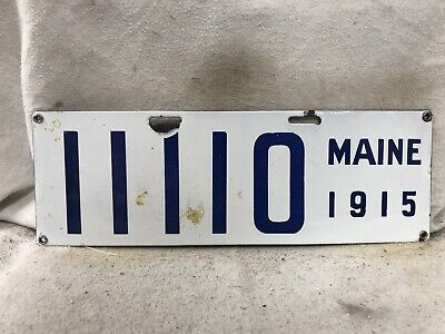 $ CDN266.67 • Buy Vintage 1915 Porcelain Maine License Plate