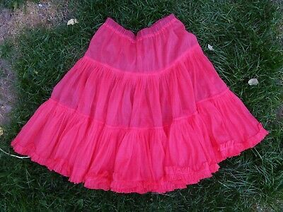 Ladies Rockabilly 50s Style Red Net Petticoat Large • 5£