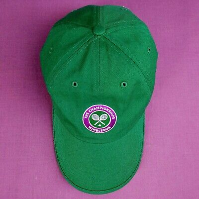 Wimbledon Tennis The Championships Cap - One Size Green Adjustable Baseball Hat • 24£