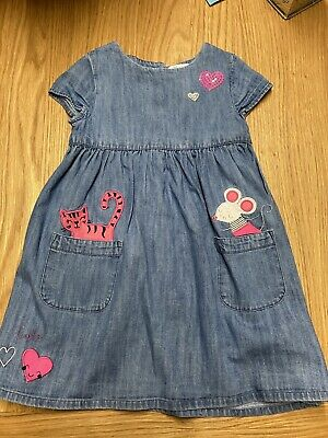 Blue Zoo Girls Blue Denim Dress Age 2-3 Years • 3.20£