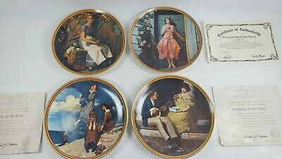 $ CDN50.12 • Buy Norman Rockwell's Rediscovered Women Collectors Plates Set Of 4. 3 Certificates
