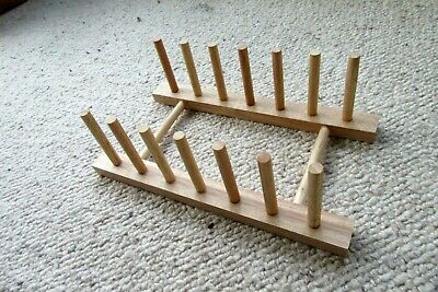 Kitchen Plate Rack,stand.holder.drainer.Wooden.For 6 Plates.Excellent Condition. • 5.99£