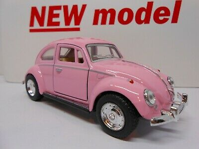 Toy Car Pink Vw Beetle 1:32 Scale Model Boy Girl Mom Birthday Present Gift New! • 8.95£