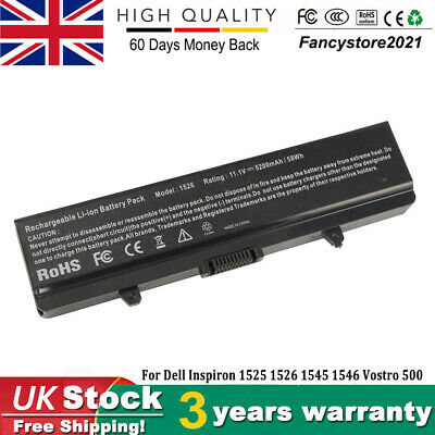 £13.99 • Buy 100% New Battery For Dell Inspiron 1525 1526 1440 1545 1546 1750 GW240 X284G