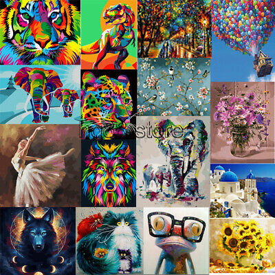 """Hiolife Paint by Numbers for Kids /& Adults /& Beginner with Framed and Easel 16/"""" x 12/"""" Balloon DIY Acrylic Painting Gift Kits"""