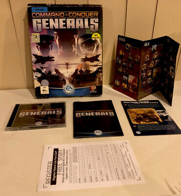 AU49.99 • Buy Command And Conquer Generals PC Big Box 2 Mint Discs With Manuals &Map🇦🇺Seller
