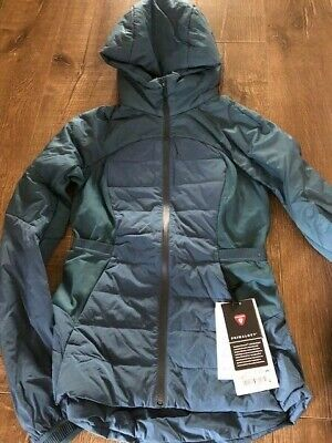 $ CDN100 • Buy Lululemon Down For It All Jacket Size 4 Petrol Blue