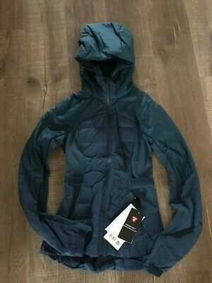 $ CDN79 • Buy Lululemon Down For It All Jacket Size 2 NWT Night Diver