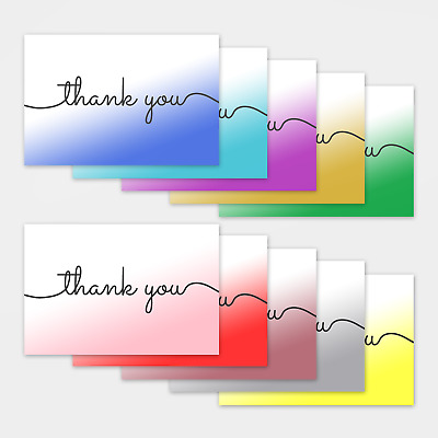 £2.49 • Buy 1-100 Pack Of Thank You Cards Postcards Notes & Envelopes Wedding Party Business