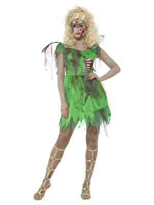 £16.99 • Buy Womens Zombie Fairy Costume Pixie Nymph Ladies Halloween Fancy Dress Outfit