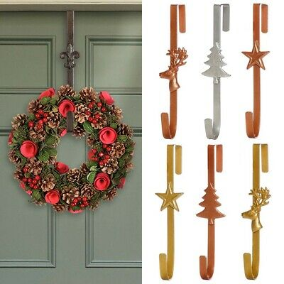 Christmas Winter Wreath Door Hanger UPVC Door Hook Metal Xmas Hanging Decoration • 11£