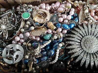 $ CDN24.37 • Buy #4 Vintage To Now Estate Find Jewelry Lot Junk Drawer Unsearched Untested Wear
