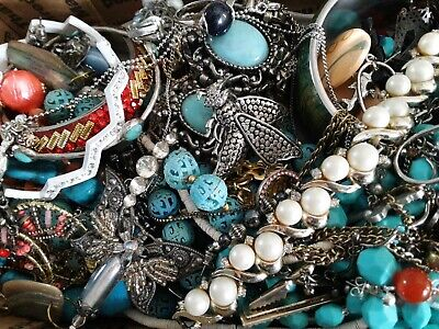 $ CDN19.77 • Buy #5 Vintage To Now Estate Find Jewelry Lot Junk Drawer Unsearched Untested Wear
