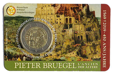 $ CDN3.95 • Buy €2 Euro Coin 2019 Belgium Pieter Bruegel The Elder  	LA# BEM-8.26  From 1$