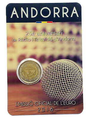 $ CDN12.52 • Buy €2 Euro Coin 2016 Principality Of Andorra Radio And Television Andorra / From 1$