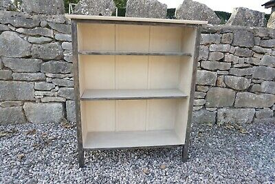 Bookcase - Painted In Annie Sloan Chalk Paint Paris Grey & Graphite Waxed • 19.99£
