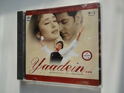 YAADEIN ~ 2-Disc Bollywood Soundtrack Hindi CD ~ Anu Malik ~ 2001 • 19.95£