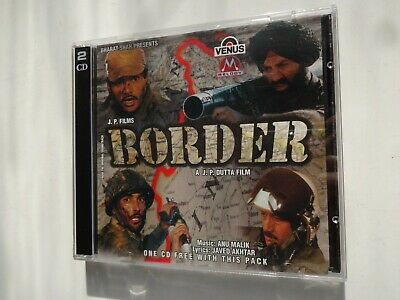BORDER ~ 2-Disc Bollywood Soundtrack Hindi CD ~ Anu Malik ~ 1997 • 14.95£
