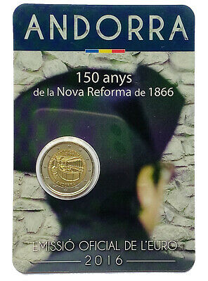 $ CDN12.52 • Buy €2 Euro Coin 2016 Principality Of Andorra New Reform / Auction From 1$
