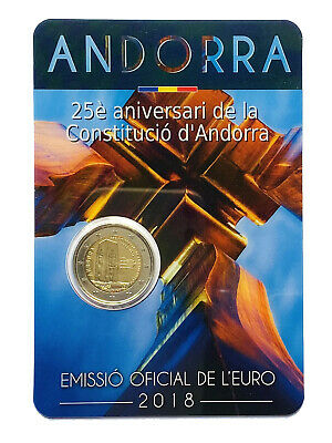 $ CDN1.32 • Buy €2 Euro Coin 2018 Andorra Constitution Of The Principality Of Andorra From 1$