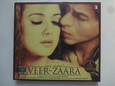 VEER ZAARA ~ 2-Disc Bollywood Soundtrack Hindi CD ~ Madan Mohan ~ 2004 • 2.95£