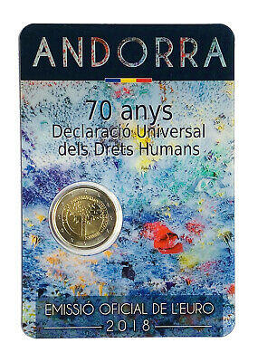 $ CDN2.97 • Buy €2 Euro Coin 2018 Andorra Universal Declaration Of Human Rights Auction From 1$
