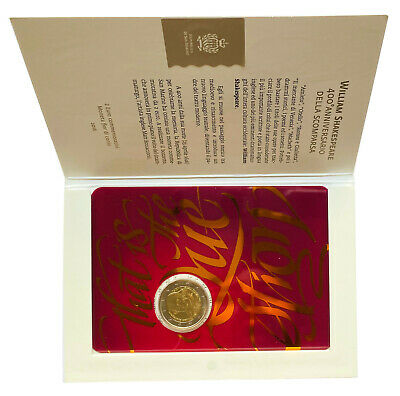 $ CDN19.77 • Buy €2 Euro Coin 2016 San Marino William Shakespeare Folder BU //  Auction From 1$