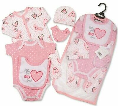 Baby Girl Layette Clothing Gift Bag Set Floral Roses Traditional Boutique Outfit