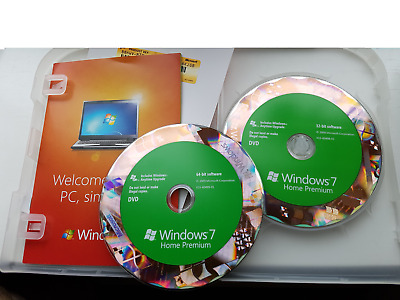 Microsoft  Windows 7 Home Premium 64 & 32 Discs  (FULL INSTALL).. • 39.99£
