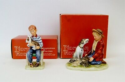 $ CDN26.60 • Buy Lot Of 2 Norman Rockwell Gorham Figurines At The Vets Pride Of Parenthood B5768