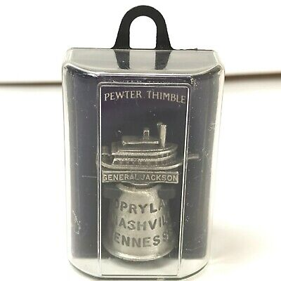 $17.76 • Buy General Jackson Showboat Opryland Nashville Tennessee Pewter Thimble Collectible